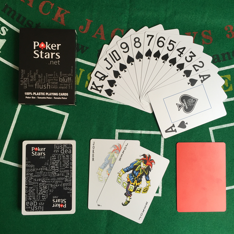 Yernea 2Sets Lot Baccarat Texas Hold 39 em Plastic Playing Cards Waterproof dull polish Poker Cards Pokerstar Board Poker Game in Playing Cards from Sports amp Entertainment
