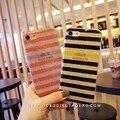 Ultra fino simples macio tpu glitter stripe case para iphone 6 6 s mais 7 7 mais Fundas Shinny Voltar Tampa Do Telefone Casos Coque Capa