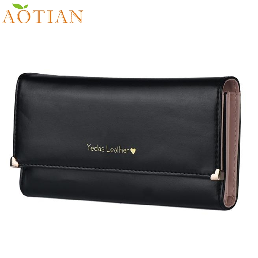 Fashion Hot New AOTIAN Lady Women Clutch Long Purse Leather Wallet Credit Card Holder Bags Gift  Drop Shipping 72-23  new arrive 1pc women lady faux leather clutch envelope wallet long card holder purse hollow hot