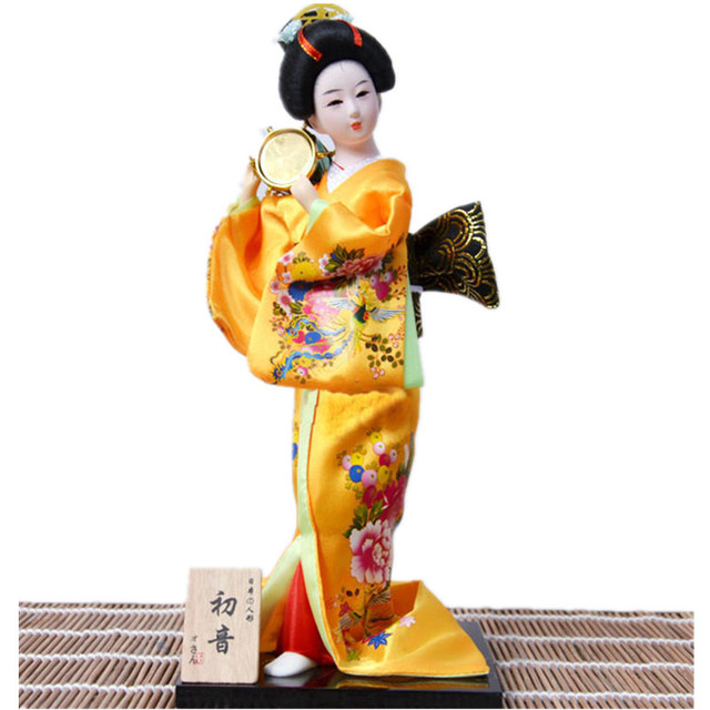 12 inch 30cm japanese figurines geisha with beautiful kimono unique hand made crafts christmas decorations for
