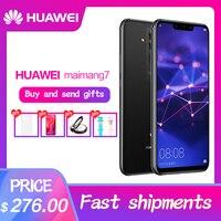 HUAWEI mate 20 Lite Maimang 7 6,3 дюймов 6 ГБ 64 Гб мобильный телефон Kirin 710 Octa Core Android 8,1 2340x1080 9 В/2A Quick Charge