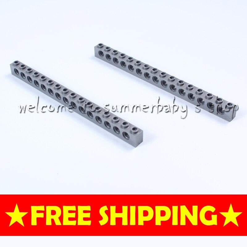 Toy Technic Brick 1*16 with Hole 16P kid diamond Building blocks enlighten playmobil ABS Compatible
