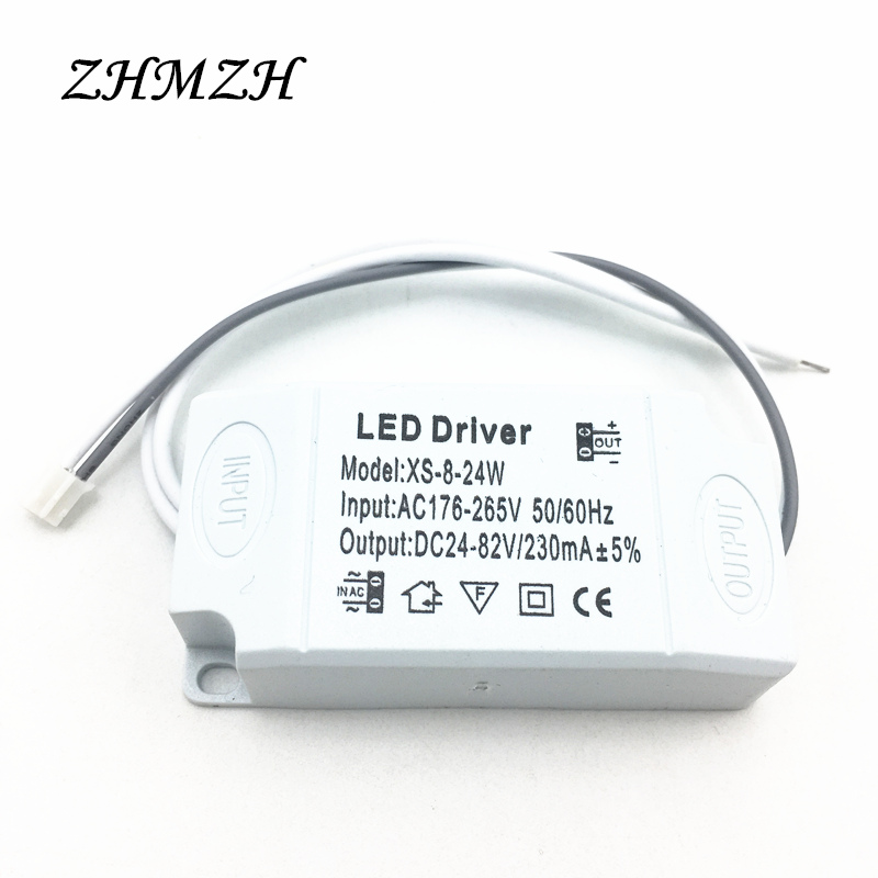 8-24W LED Constant Current Driver 230mA DC Output Power Supply 176-265V AC Input Lighting Transformer For LED Ceiling Lights water resistance 19 24w led constant current source power supply driver 90 265v