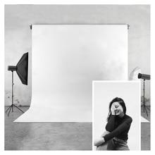 Чистый белый фото фон HUAYI винил и полиэстер фотография фон для фотостудии фотографии или личные Ins фотографии