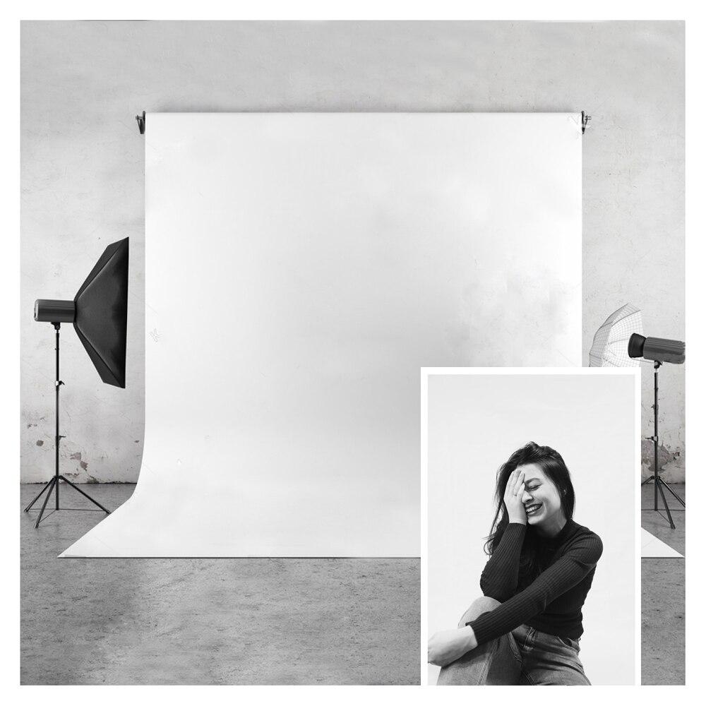 Fondo de Fotografía Blanco puro HUAYI vinilo y poliéster fondo de fotografía para fotos de estudio fotográfico o fotos privadas Ins