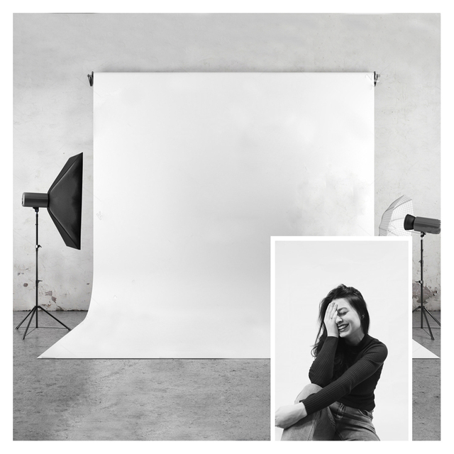 White Photo Background Huayi Vinyl Glare Free Photography Backdrop For Studio Pictures Or Home