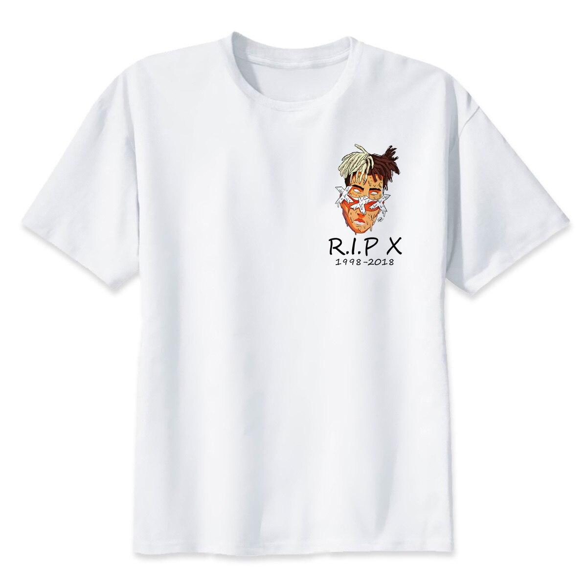 Xxxtentacion RIP Caractères Imprimer T-Shirt De Mode t-shirt de mâle Frais O-cou Hommes T-shirt D'été À Manches Courtes Hommes Vêtements