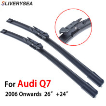 QEEPEI Wiper For Audi Q7 2006-Present 26+24 Wipers Blade Accessories Auto Rubber Windscreen Windshield ,CPB110-1
