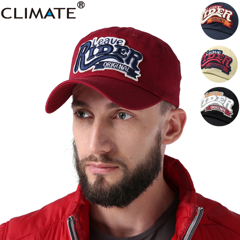 CLIMATE 2018 New Spring Men Baseball Cap Wine 3D RIDER Logo Cool Baseball Caps Casual Cotton Sport Adjustbale Cool Caps Hat brushed cotton twill ivy hat flat cap by decky brown
