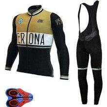 2018 ALE Pro men's long sleeve Set Cycling jersey Ropa Ciclismo Bike Clothing Bib Pants maillot uniformes hombre Sportwear K10