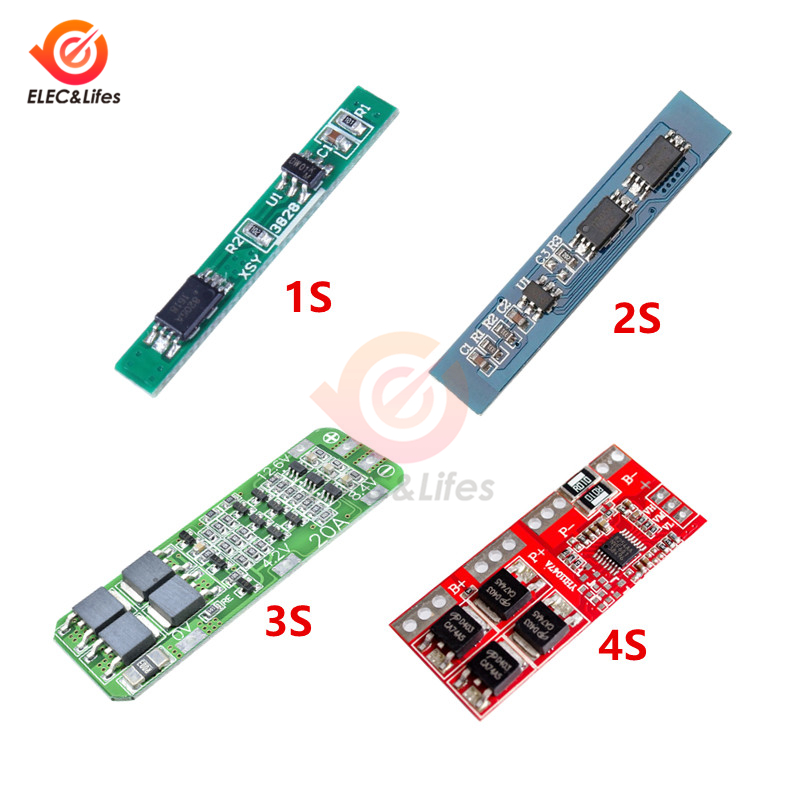 1S 2S 3S 4S Lithium Battery Charger Protection Board PCB BMS 18650 Li-ion lithium battery charger Module 2.5A 3A 20A 30A image