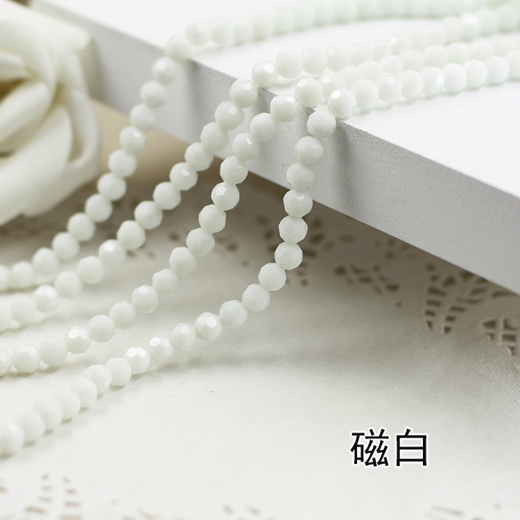 Wholesale~ Ceramic White Color 5000# Crystal Glass Beads Loose Round Stones Spacer for Jewelry Garment.4mm 6mm 8mm 10mm