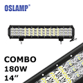 "Oslamp 180W 14"" CREE Chips Combo LED Work Light Bar 12V 24V 6000K Led Auto Driving Lamp for Car SUV ATV RZR UTV Camper Led Bar"