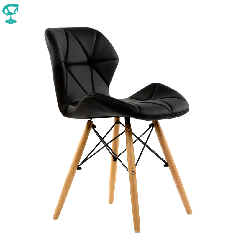 95213 Barneo N-42 Eco-Skin Wood Kitchen Breakfast Interior Stool Bar Chair Kitchen Furniture Black Free Shipping In Russia