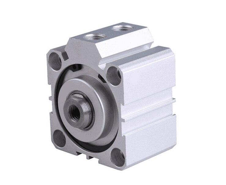 Купить с кэшбэком Free shipping Thin cylinder SDA100 series 5mm to 100mm stroke aluminum alloy air cylinder Pneumatic components
