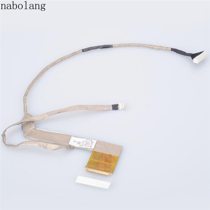 Nabolang LCD Video Cable 50.4GK01.012 EPYG For HP PROBOOK 4520S 4525s 4720s repair parts for HP 4520s 4525s LCD Video Flex Cable 598670 001 motherboard for hp probook 4520s 4720s 48 4gk06 011 h9265 1 tested ok
