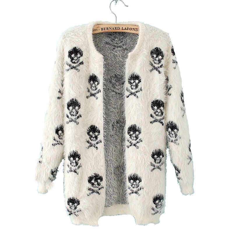 2019 סתיו חדש נשים קרדיגן מעיל אופנה גולגלות לסרוג צמר סוודר חם ארוך שרוול רופף היפוקמפוס סוודר מעיל