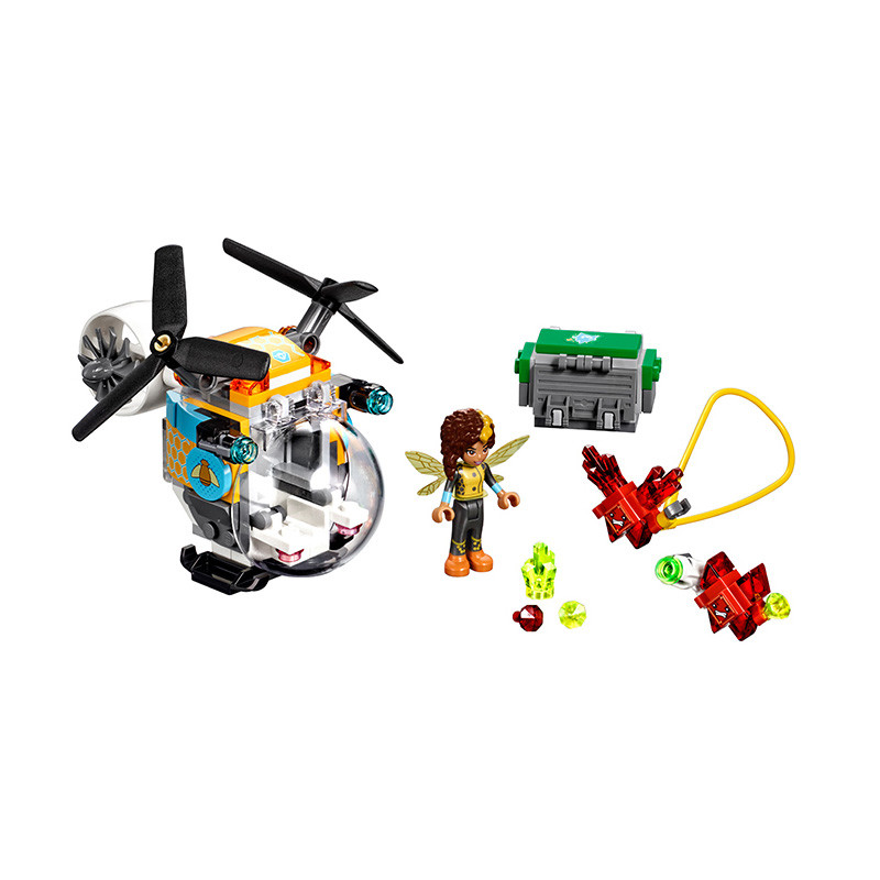 Lepin Pogo Bela Super Heroes Girls Bumblebee Helicopter Crystal Marvel Avengers Building Blocks Bricks Compatible legoe Toys transformers маска bumblebee c1331