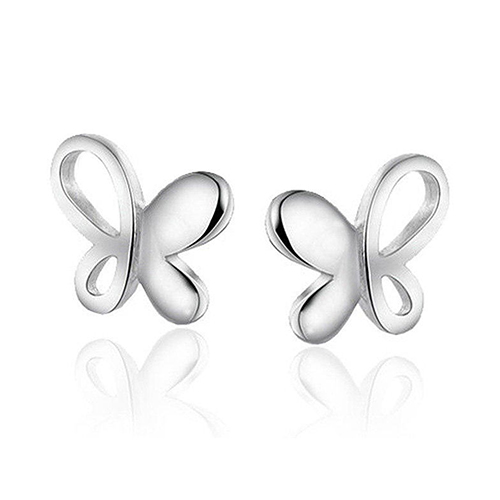 24 Pairs New Fashion Women Silver Plated Hollow Butterfly Stud Earrings Jewelry Gifts