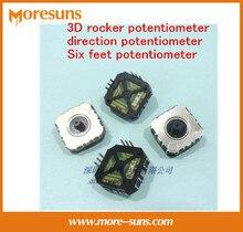 Свободный Корабль 10 шт. 3D рокер потенциометра/направление потенциометра/Шесть футов потенциометра 10 K машина игры джойстик, потенциометр