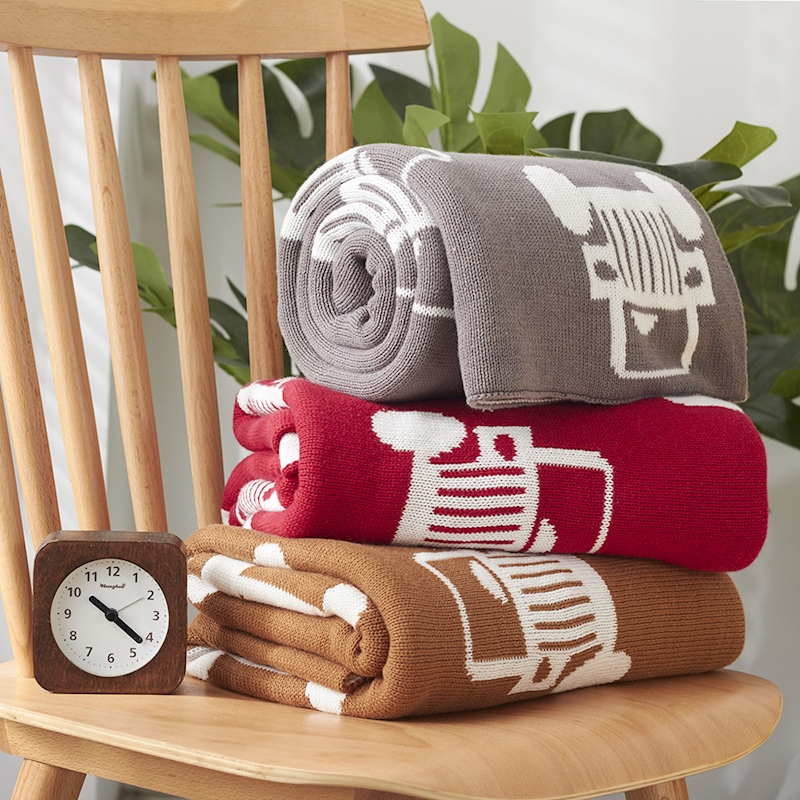 Baby Knitted Swaddling Blanket 2017 New Autumn Baby Blankets Cute Gray Red Bed Sofa Cobertores Mantas BedSpread Bath Towels Gift new knitted blankets towels luxury hotels home sofa wool blanket europe leisure jacquard cotton blanket decorative bedding
