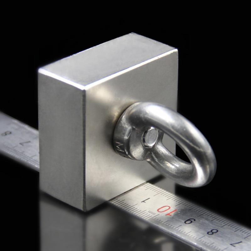 Super Potente Forte Rare Earth block foro magnete Al Neodimio N52 Magneti 50*50*25mm (45x45x21mm)