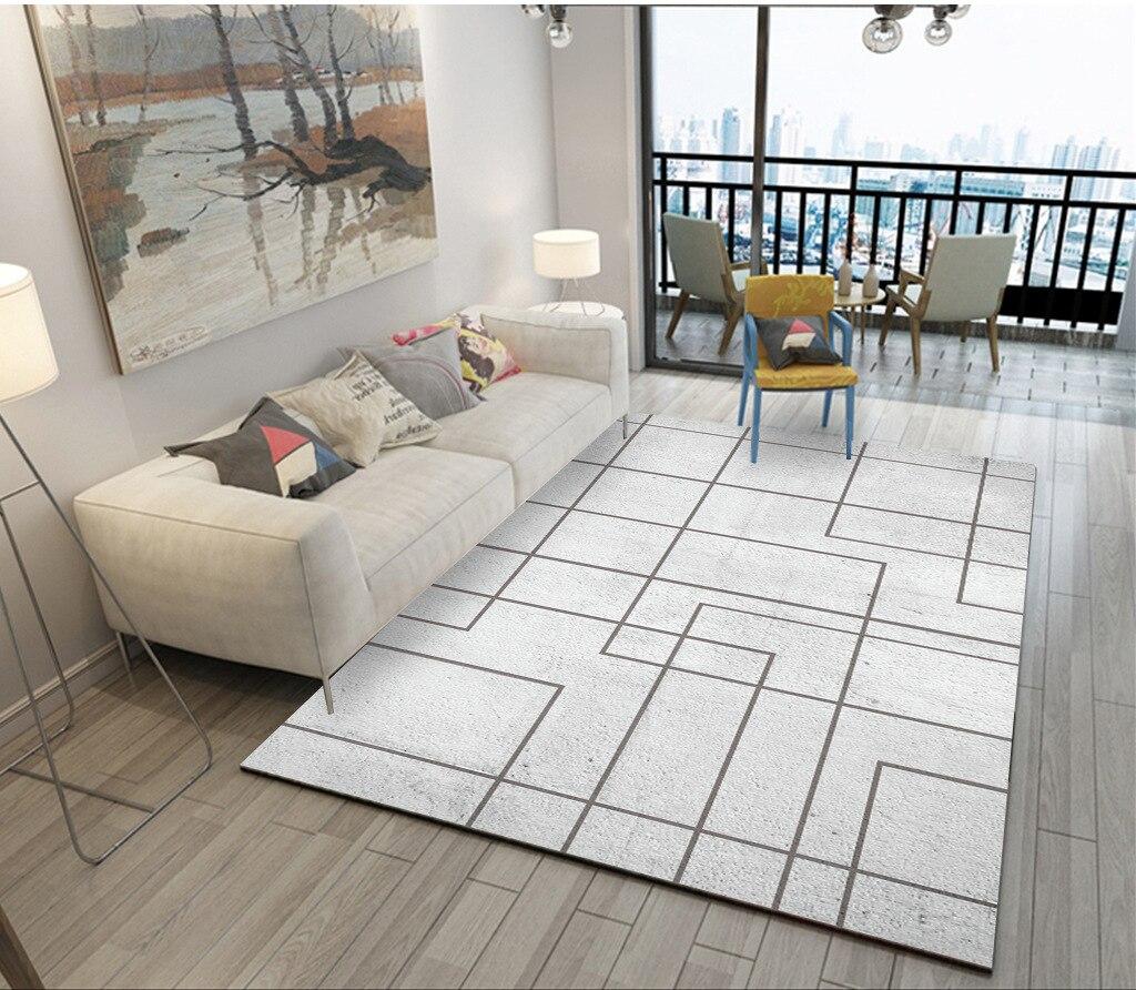 Tapis modernes géométriques pour salon maison nordique tapis chambre chevet couverture zone tapis doux étude salle teppich tapis plancher - 6