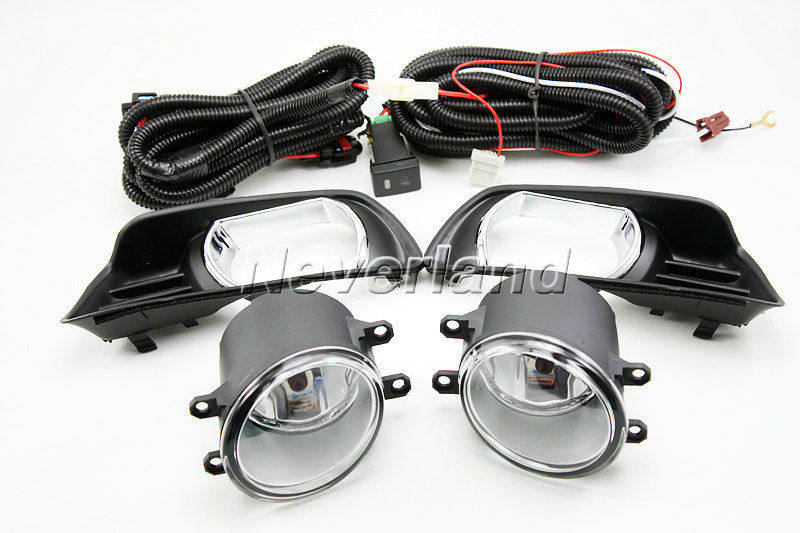 New Arrival 2pcs Auto Car 55W Front Fog Lights Driving Spot Lamp Kit for Toyota Camry 2007-2008 D20 1set front chrome housing clear lens driving bumper fog light lamp grille cover switch line kit for 2007 2009 toyota camry