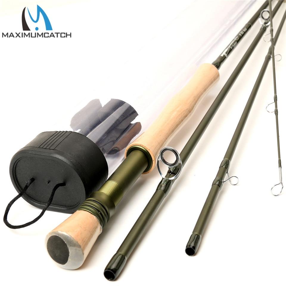 Maximumcatch Bass Fly Rod 9 FT--8 Weight--4 Piece Plastic Rod Tube Explorer 9084