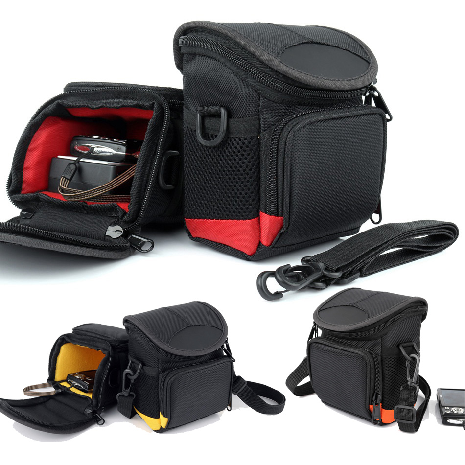 HUWANG Digital Camera Bag For Nikon Sony Canon Camera Panasonic Fujifilm Leica Samsung Casio Shoulder Case Photo Bag Waist Packs