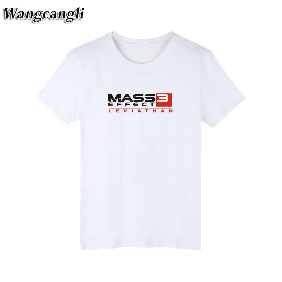 White t shirt effect - 2017 Mass Effect 3 N7 Black T Shirt Men Brand Famous Game Fashion Men T Shirt Short Sleeve Summer In White Tee Shirt Men S