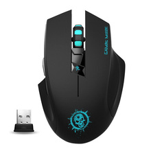 C10 USB Wireless Optical Gaming Mouse Noiseless with 7 Button 2000DPI Computer Mouse For PC Laptop Desktop LOL Bloody Game Mause