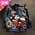 2016 new Summer Girls Kids boys cartoon fashion denim jacket coat comfortable cute baby Clothes Children Clothing 20W