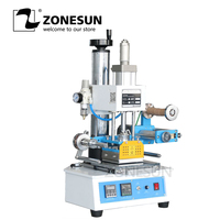 ZONESUN ZY 819H Auto Industrial Hot foil Stamping Machine Leather LOGO Wood Mark Name Card Branding Machine Leather Embossor