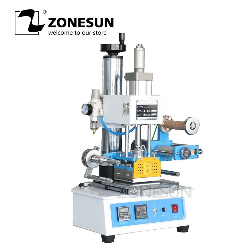 ZONESUN ZY-819H automatique industriel feuille chaude estampage Machine en cuir LOGO bois marque nom carte marque Machine en cuir Embossor