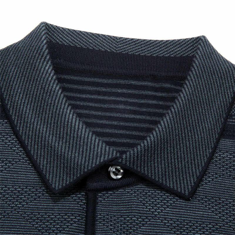 2019 カジュアル長袖ビジネスメンズシャツ男性ストライプファッションブランドポロシャツデザイナー男性 tenis ポロカミーサソーシャル 3881