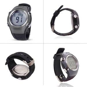 Image 4 - Часы мужские/женские спортивные с пульсометром, водонепроницаемые цифровые беспроводные оранжевые с нагрудным ремешком, для бега, велоспорта