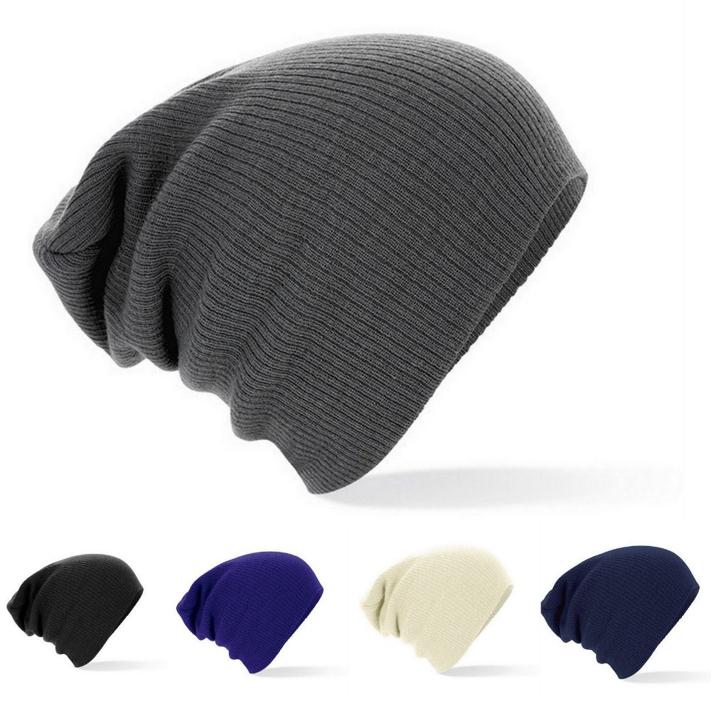 2016 New Winter Hats Solid Hat Female Unisex Plain Warm Soft Women's Skullies Beanies Knitted Touca Gorro Caps For Men Women