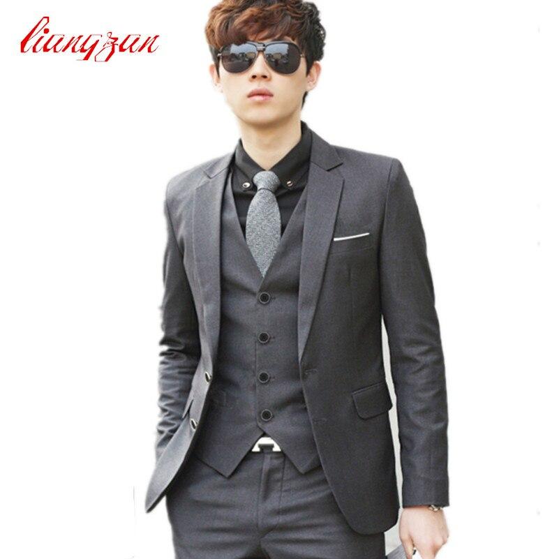 Hommes costume de mariage ensembles formel mode Slim Fit affaires robe costumes Blazer marque fête Masculino costumes vêtements (veste + pantalon + cravate)