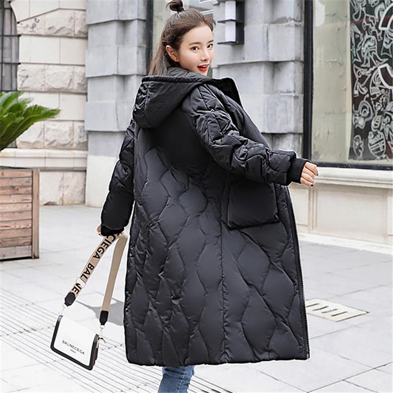Woman Plus Size Winter Down Jackets Female Autumn Oversized Down   Parkas   Women Long Thick Down Doudoune Lady Warm Abajo Chaqueta
