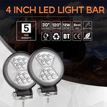 Round 4 Inch Car LED Work Light 162W LED Daytime running light Spot Beam Offroad Driving Light Bar Auto Accessorie