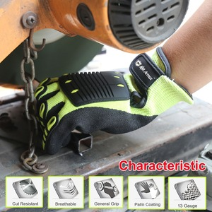 Image 3 - Cut Resistant Safety Work Glove Anti Vibration Anti Impact Oil proof Protective With Nitrile Dipped Palm Glove for Working