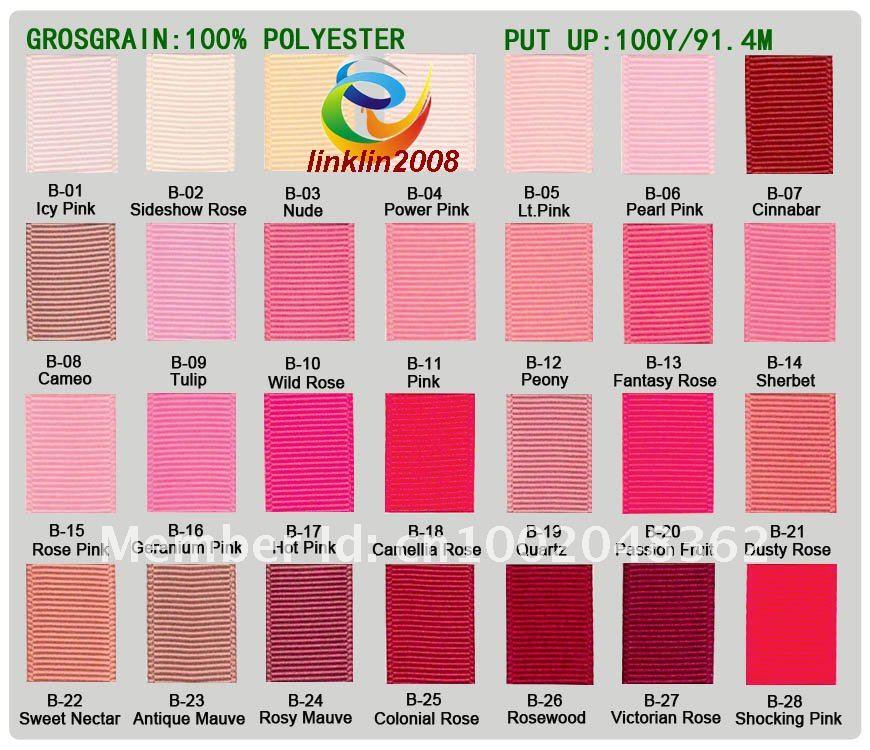"""1/"""" 3 мм Soild Grosgrain лента высокого качества бант для волос Сделай Сам Подарочный пакет оптом от 196 цветов"""