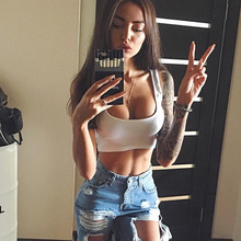 White Summer time Halter Bustier Horny Crop Tops Croptop Ladies Sleeveless Cropped Tanktop Feminino Tank Prime Haut Femme Blusa Bralet