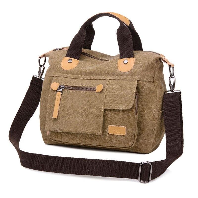 Image 5 - 新しい女性バッグキャンバスハンドバッグメッセンジャー女性のハンドバッグショルダーバッグデザイナーハンドバッグ高品質ボルサ  feminina    グループ上の スーツケース
