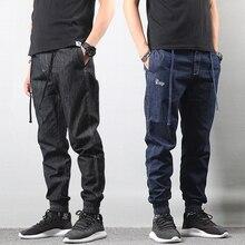 Fashion Streetwear Men Jeans Vintage Designer Loose Fit Cargo Pants hombre Denim Harem Trousers Hip Hop Jeans Men Joggers Jeans цена в Москве и Питере