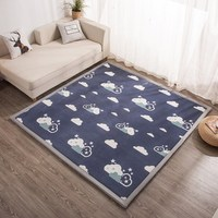 3CM Thickening coral fleece carpets for living room bedroom bay window carpet baby crawling Antiskid soft Rugs Parlor tatami mat