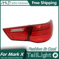 AKD Car Styling for Toyota Reiz Tail Lights 2010 2012 Mark X LED Tail Light Rear Lamp DRL+Brake+Park+Signal