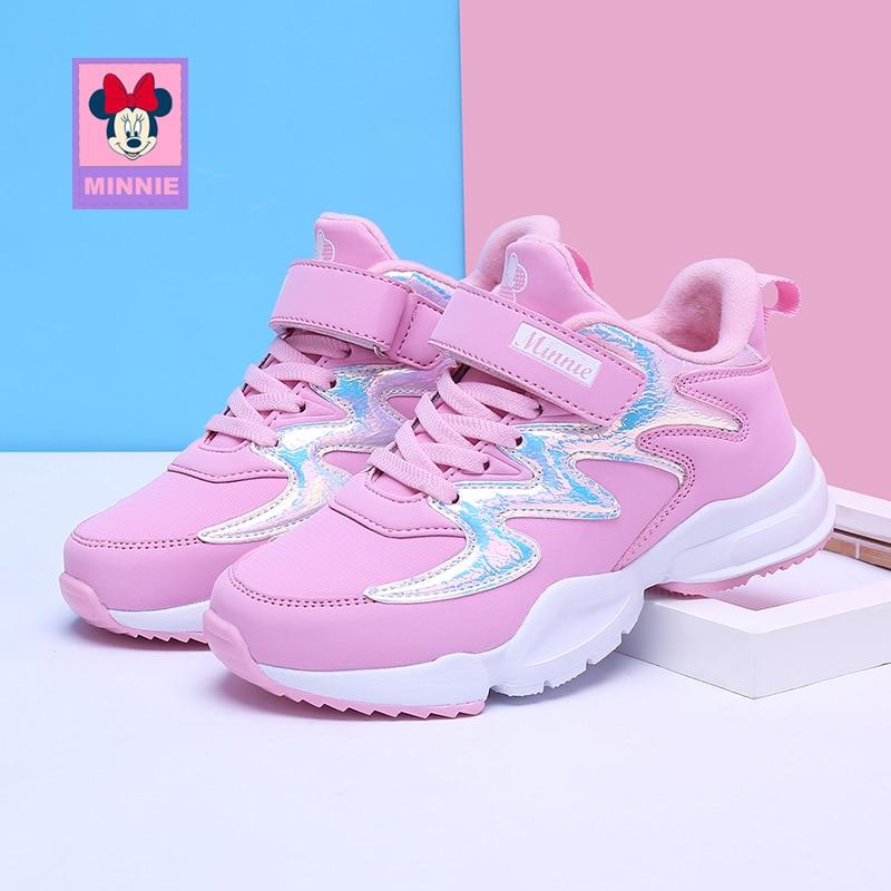 Chaussures enfant Disney chaussures Minnie filles printemps automne chaussures de sport enfant antidérapant respirant chaussures enfant taille 31-37