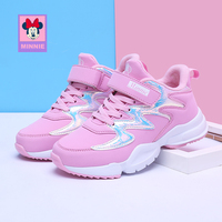 Disney Kids shoes Minnie girls Footwear Spring Autumn children's Sneakers Non slip breathable toddler shoes size 31 37